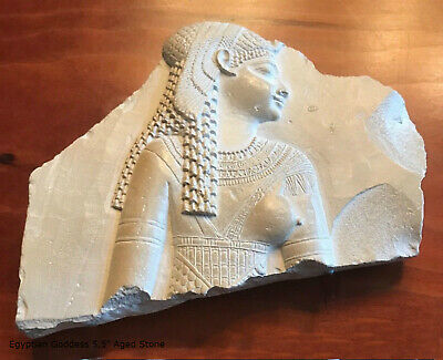 Egyptian Goddess Cleopatra Isis Fragment Sculpture Statue museum reproduction