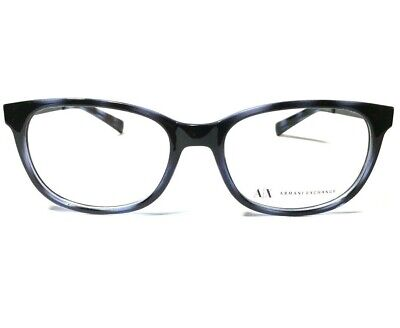 79f9744243386 New Armani Exchange Eyeglasses Frame AX3005 8206 RX 52mm Black Blue  52-17-145