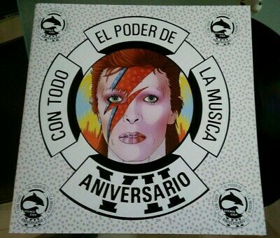 David Bowie -Another Face-Rubber Band-LP Mexico Promo Radio Ps Polygram