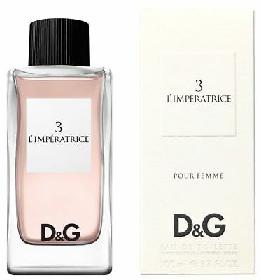 DOLCE & GABBANA No3 L'Imperatrice 100ml EDT Women's Perfume New Boxed Sealed D01