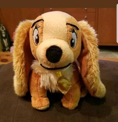 Disney PARKS LADY FROM LADY AND THE TRAMP Plush Stuffed Animal TOY Dog