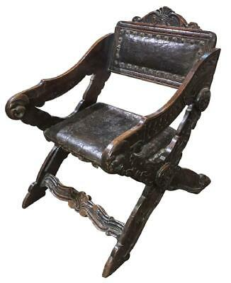 Very Nice Italian Walnut Gondola Style Chair Vintage / Antique