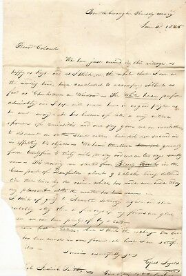 1825 Brattleboro Vermont Letter, Dr. Albert Smith, Peterborough, New Hampshire