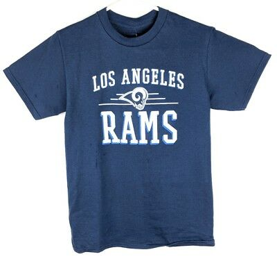 NWT Los Angeles Rams Mens All Sizes Graphic Navy Blue Tee Shirt Top Short Sleeve
