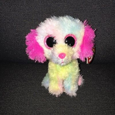 3e55d03888d TY BEANIE BOO Lovesy Justice Exclusive Dog Puppy Tie Dye Rainbow 6 ...