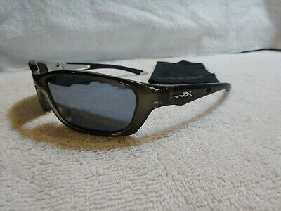 5eb1f048e7 Wiley X Black Ops Sunglasses Brick Silver Flash Lens Crystal Metallic Frame  L  K