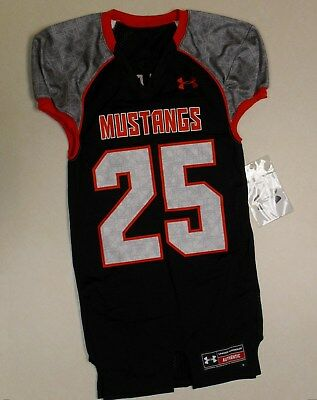 New SMU Southern Methodist Mustangs Under Armour Football Fitted Game Jersey  Med 989bc68be