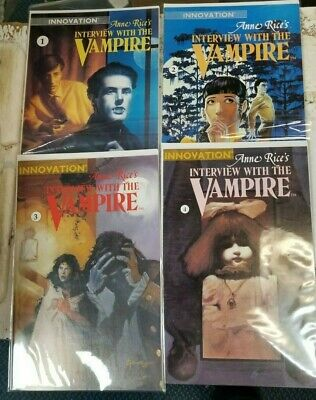 Anne Rice's Interview With The Vampire Comics Issue #1, 2, 3,4 (Innovation 1991)