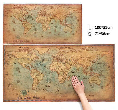 Scratch Off World Map Poster with States and Country 100x51cm