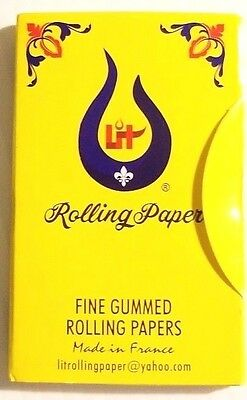 """12 TOP CIGARETTE ROLLING PAPERS =1200 LEAVES/ NEW """"LIT"""" Brand Same As TOP Paper"""