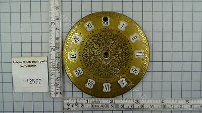 Rare Gold Dial For A Warmink Gravity Or Sawtooth Clock Anno 1750