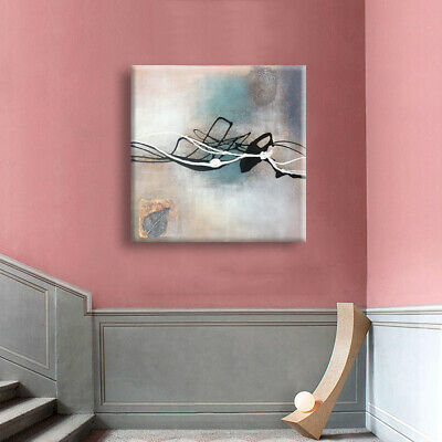 Hand Painted Abstract Oil Painting On Canvas Modern Wall Art Home Decor (Framed)