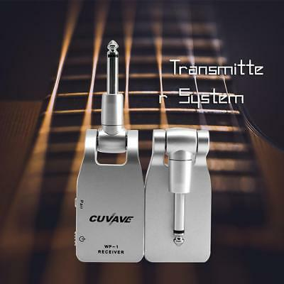 Wireless Guitar Transmitter System Rechargeable Transmitter Receiver Portable US