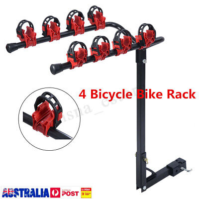 "132LB 4 Bicycle Bike Car Carrier Rear Rack 2"" Steel Foldable Hitch Mount"