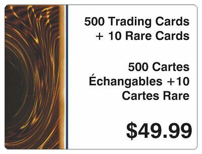 YUGIOH VALUE PACKAGE 500 CARDS + 10 RARES MINT RANDOM LOT BOX BOOSTER -510 total