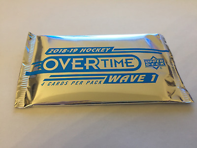 2018-2019 Upper Deck Overtime Hockey Factory Sealed Booster |1 Pack | Rare