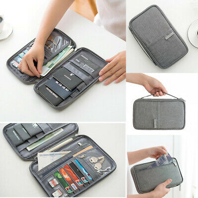 Travel Family Passport Holder Storage Bag Credit Card Wallet Document Organizer