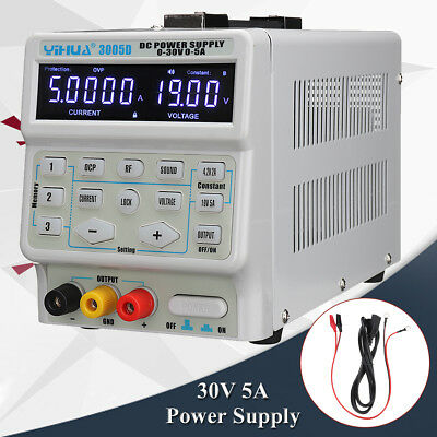 YIHUA 3005D 220V 30V 5A Mini Switching Regulated Adjustable DC Power Supply Lab