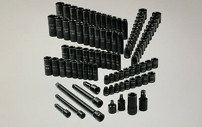"""Craftsman 95 pc. piece 3/8"""" & 1/2"""" Drive Easy-to-Read Impact Socket Set 15383"""