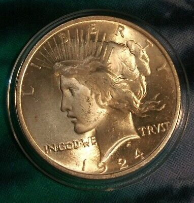 1924 Silver Peace Dollar GEM BU ~~AMAZING LUSTER~~ PQ/MS+++ Uncirculated Coin