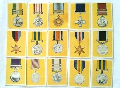 15 x Vita-Brits Military Decorations & Medals Vintage Trading Cards