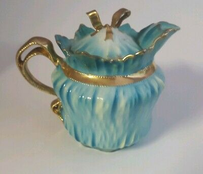 Sweet Little Antique RS Prussia Bowtie Bow Tie Individual Teapot ? SYRUP PITCHER