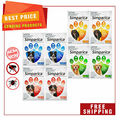 SIMPARICA Flea and Tick Control for Dogs All Sizes 12 Chews by Zoetis
