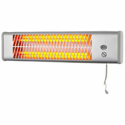 Heller 1200W Wall Mounted Bathroom Strip Heater With Pull Cord HSH1200W