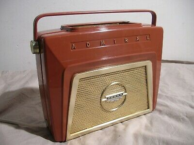Admiral Vintage Tube Radio M987 Usa V/gd Cosmetics All Working Well -  Valve
