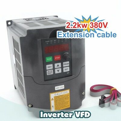 2.2KW 380V HY VFD Spindle Inverter Speed Control Frequency 6A CNC Converter 3HP