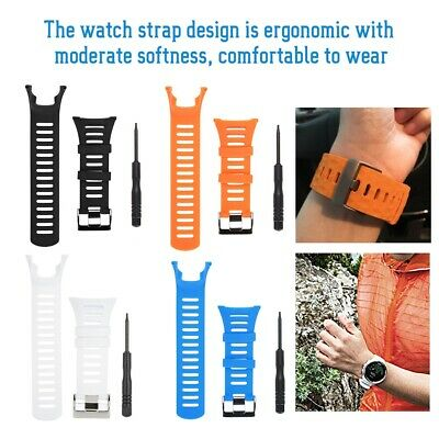 Replacement Rubber Wrist Band Strap + 1P Screwdriver Tool for Suunto Ambit 1/2/3