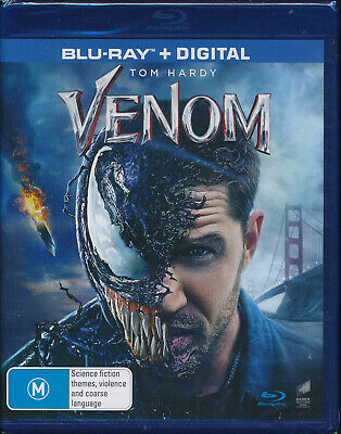 Venom Blu-ray + Digital NEW Region B Tom Hardy Michelle Williams