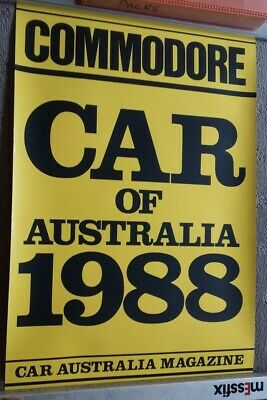 Holden factory 1988  Commodore VN Car of the year dealers showroom poster