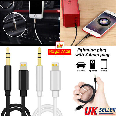 Lightning to 3.5mm Male Jack Car AUX Audio Adapter Cable Lead for iPhone 7 8 Xs