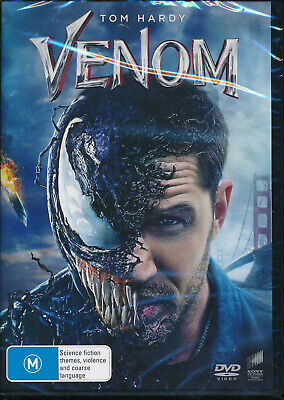 Venom DVD NEW Region 4 Tom hardy Michelle Williams Marvel Universe