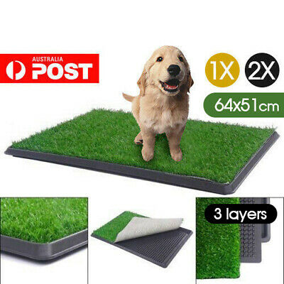 Indoor Dog Pet Training Toilet Portable Puppy Tray Loo Pad mat Large Easy Clean