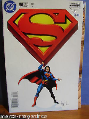 Dc Comics Superman Man Of Steel Vol 1 # 58 July 1996 Identity Crisis Iii Snares