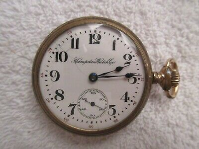 vintage Hampden Watch Co pocket watch for repair or parts lot H