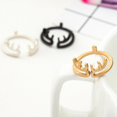 Tiny Lovely Deer Ring Adjustable Open Ring Girls Fashion Animal Ring Jewelry BS