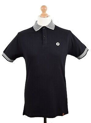 9caf9c01c Trojan Records Black Houndstooth Trim Polo Shirt Mod Clothing Ska Skinhead
