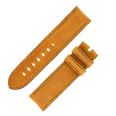 Rios1931 DERBY Genuine Vintage Leather Watch Strap with Buckle in HONEY