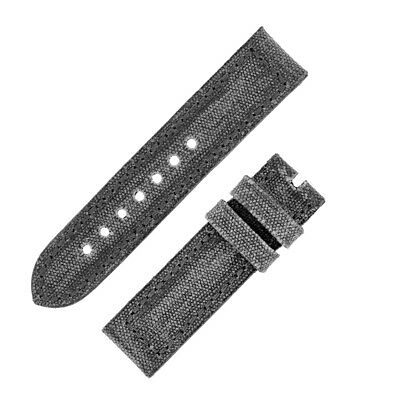 Rios1931 MARYLAND Genuine Vintage Canvas Watch Strap with Buckle in STONE GREY