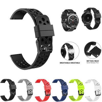 Silicone Bracelet Strap Watch Band For Samsung Gear S3 Frontier Classic 22mm US