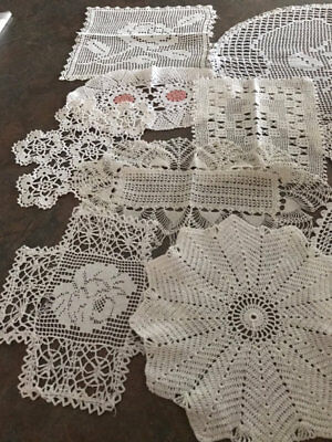 Vintage Larger White Doilies.27 Of Them.lot 10.