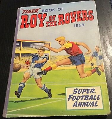 'Tiger' vintage Roy of the Rovers super football annual 1959 VERY RARE