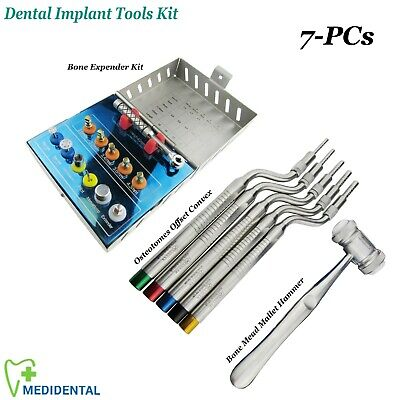 Bone Compression & Expander Kit Dental Implant Osteotomes Sinus Lift Elevators