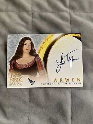 Lord of the Rings Autograph Card Liv Tyler As Arwen from TROTK