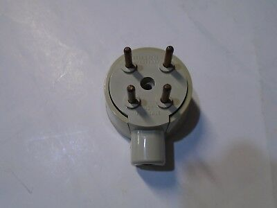 Western Electric #505A  Bell System  4 Prong Plug  Red Yellow Black Green Wires