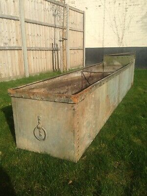 barn find old studded trough, planter, water feature