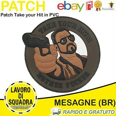 Patch Toppa SoftAir 3D in PVC Take Your Hit... Military Militaria Militare